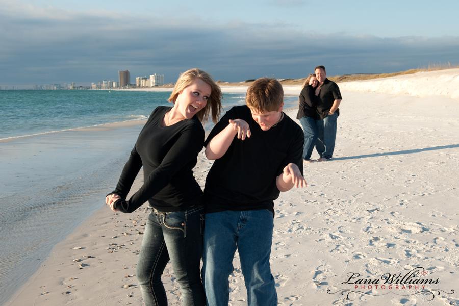 Siblings on Panama City Beach